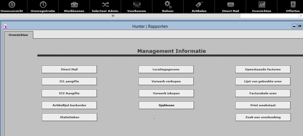 Hunter software op maat